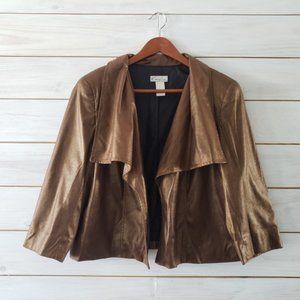 Kim Rodgers Petite Gold Shimmer Jacket